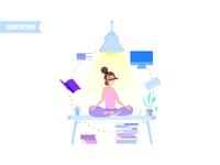 Office meditation concept
