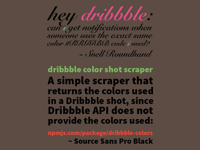 Typing in Snell Roundhand & Source Sans source sans snell roundhand colors js npm api color scraper dribbble source roundhand