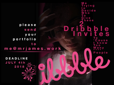 2X Dribbble Invites invitation invite invites dribbble