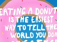 Eating a Donut