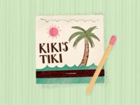 Vintage Matchbook Illustration - Kiki's Tiki