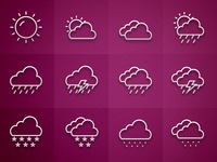 iOS7 Weather icons