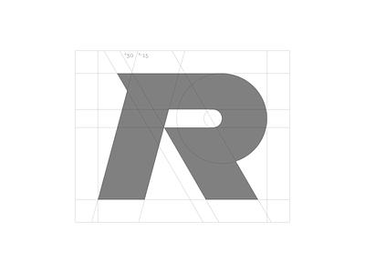 R - Grid bikecomponents bikes lettermark monogram typography symbol mark branding logo minimal grid mountainbike bike mtb downhill dynimic extreme sport