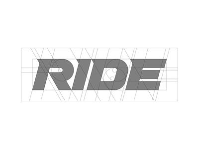 RIDE - grid branding strong dynamic typedesign type grid golden ratio typography minimal snowboard mtb mountainbike ride