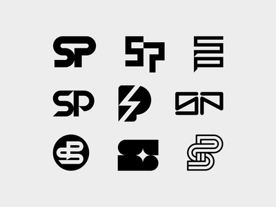 Sam Pilgrim 01 logo design biking mtb freeride sam pilgrim lettermark monogram typography symbol icon mark branding logo minimal