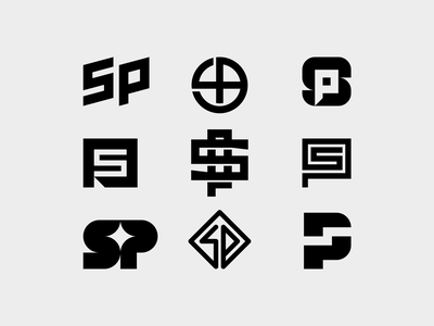 Sam Pilgrim 02 professional mountainbike mtb monogram lettermark typography symbol icon mark branding logo minimal
