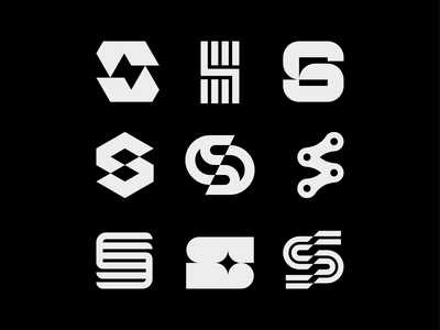 S explorations startup sportswear sports sport lettermark monogram golden ratio symbol icon mark branding logo minimal typography