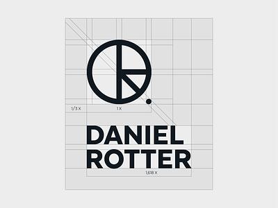 DR - construction 02 personal brand personal logo lettermark monogram golden ratio typography symbol icon mark branding logo minimal