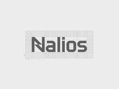 Nalios - custom type grid grid technology logotype logomark typography art custom type lettermark monogram typography icon mark branding logo minimal