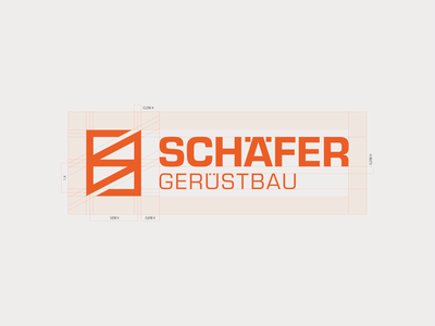 Schäfer Gerüstbau - construction 01 grid icon golden ratio symbol mark branding logo minimal architecture construction geometric gerüst scaffold scaffolding