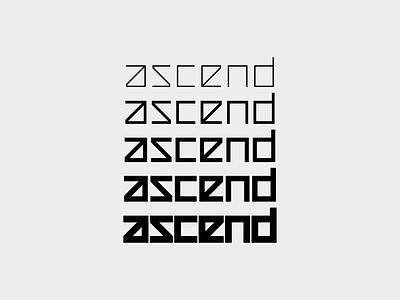 ascend - Logo Type technology cycling mtb emtb pedelec ebike biking sportswear sport variable font lettermark branding logo minimal experimental typography customtype typography logotype type ascend
