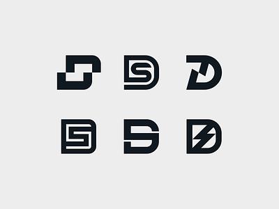D(S) - Exploration monogram lettermark typography symbol mark branding logo minimal downhill rider mountainbike mtb personal brand personal logo ds