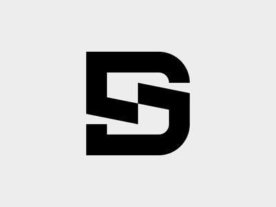 DS - Logo symbol monogram mark branding logo minimal sports extreme dynamic downhill biking personal branding rider mtb
