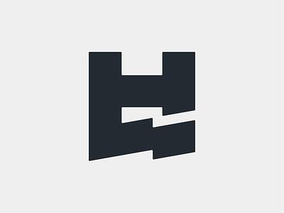 HL - Logo lettermark typography mark professional athlete extreme sport biking rider dynamic enduro mtb sports personal branding branding logo minimal monogram