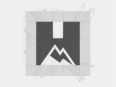Hannes Lenk - Logo grid symbol mark branding logo minimal thunderbolt mountain dynamic extreme sports biking rider enduro downhill mtb
