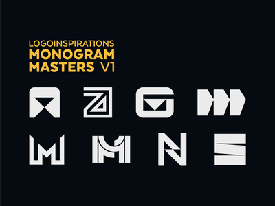 Monogram Masters: Volume 1 athlete sportswear snowboard mtb technology sport lettermark typography symbol mark branding logo minimal monogram logo monogram
