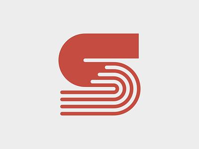 S - Track lettermark monogram typography symbol mark branding logo minimal sportswear athlete sport tracks sports logo sport track