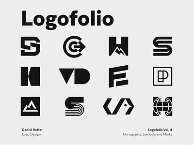 Logofolio Vol.4 athlete negative space monogram symbol mark branding logo minimal clothing technology sports logofolio