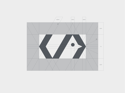 Softbird - construction monogram typography symbol mark branding logo code minimal negative space bird software softbird