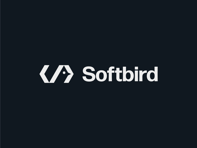 Softbird logo o p q r s t u v w x y z a b c d e f g h i j k l m n typography monogram symbol mark branding logo logomark lettermark hidden code negtative space minimal software