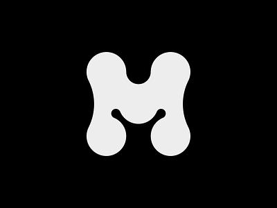 M - Logo monogram typography symbol mark branding logo minimal golden ratio lettermark m