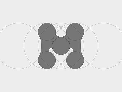 M - Logo (construction) connect software saas sportslogo sports sport monogram typography symbol mark branding logo minimal golden ration logo grid grid construction m