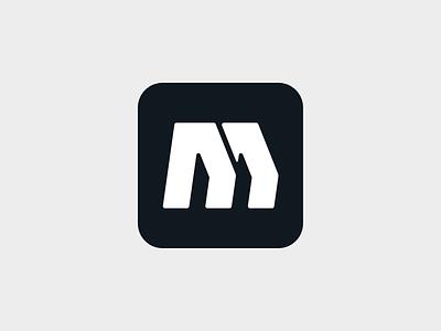 M o p q r s t u v w x y z a b c d e f g h i j k l m n monogram symbol mark branding logo minimal motion speed dynamic sports legs deliver running quick
