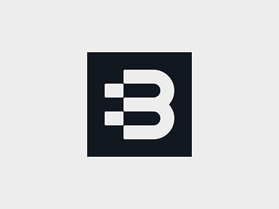 B - build integrate connect service building build construction monogram typography symbol mark logo minimal branding b