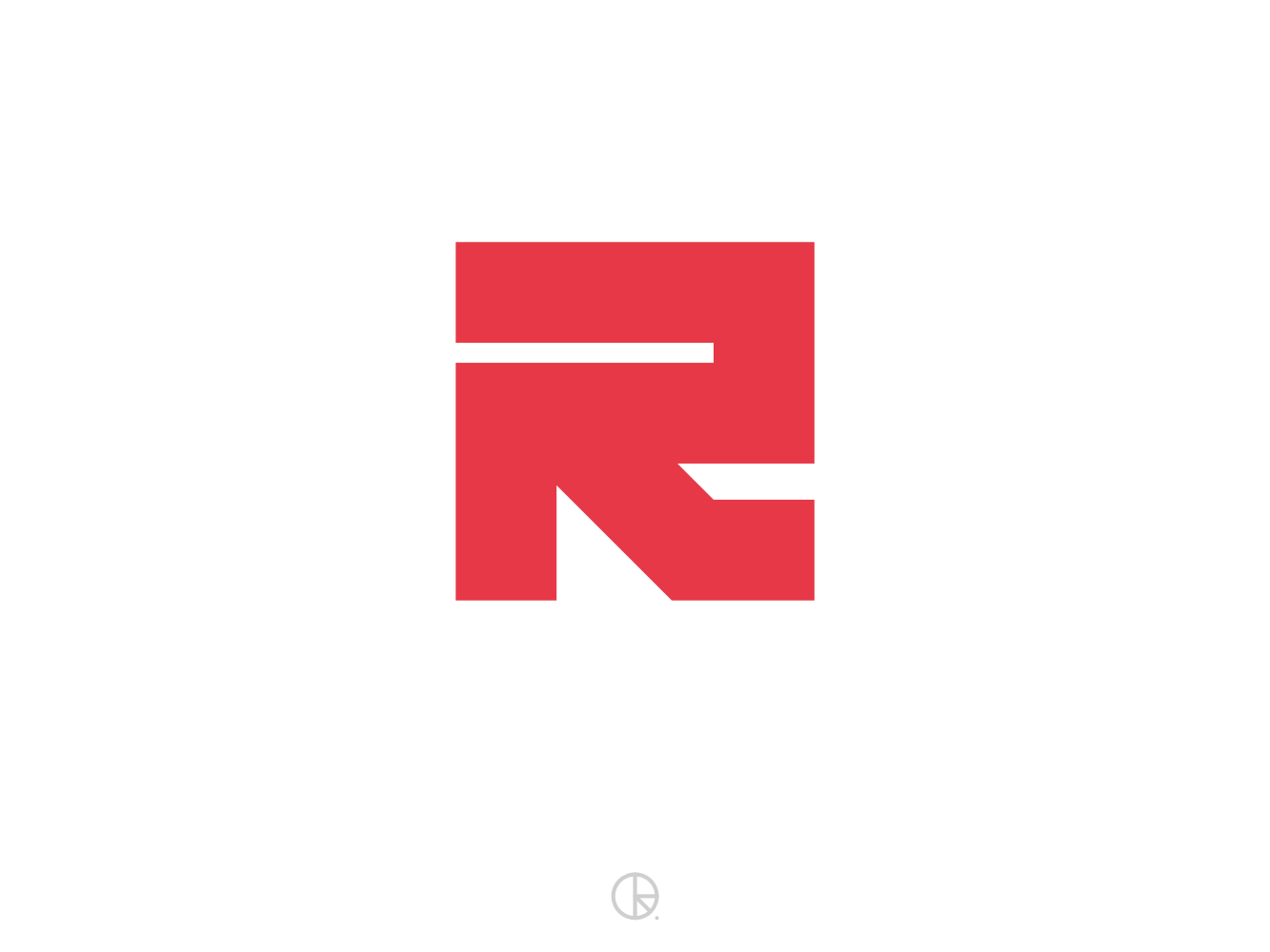 R r 36daysoftype-r typography lettermark monogram symbol mark icon golden ratio branding logo minimal 36daysoftype06 36dayoftype 36 days of type