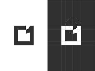 square1 symbol mark icon golden ratio branding logo minimal one square