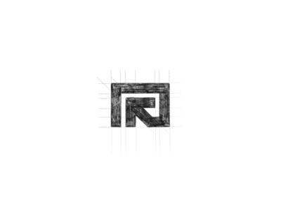 R-arrow sketch