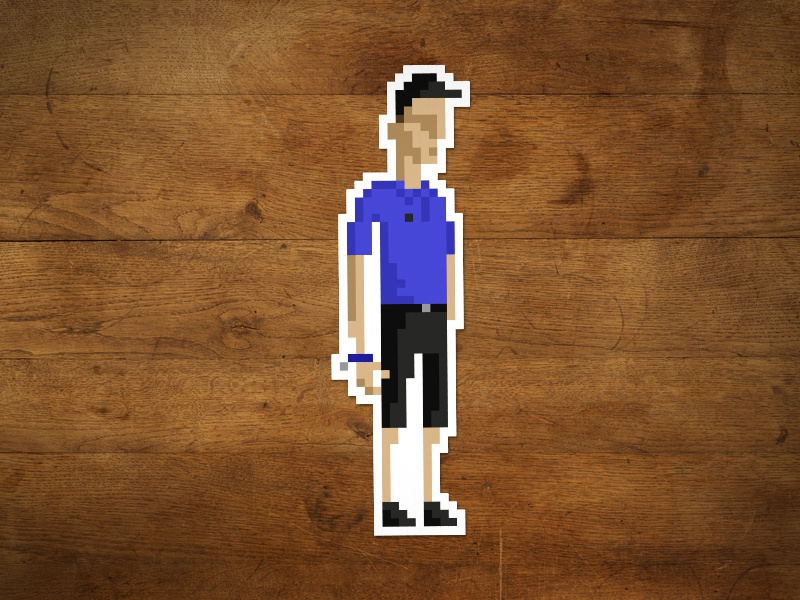 Pixel Valet pixel valet sticker