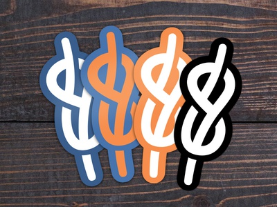 Sticker Mockups vector rope mockup diecut sticker