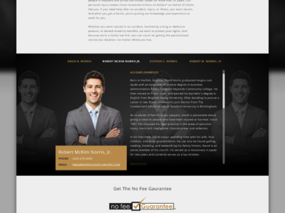 Bio Profile sketchapp web responsive web design sketch made with invision