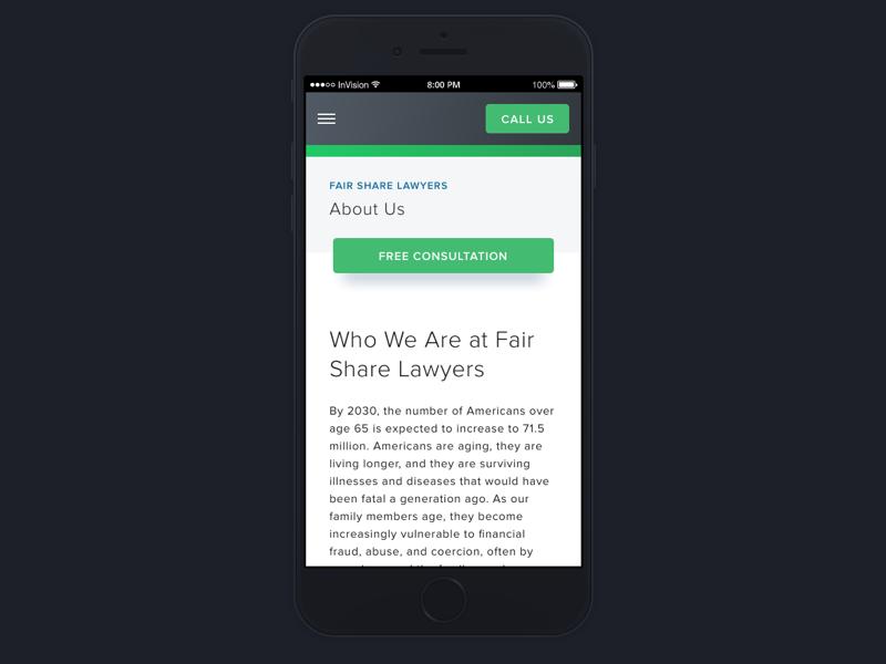 Subpage design ui ux lawyers responsive rwd web design