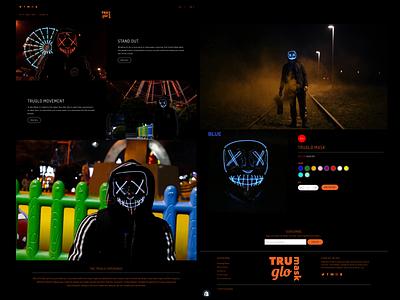 Tru Glo Mask Website Design app website design web minimal brand website ux motion graphics animation 3d ui vector logo illustration icon graphic design design branding 3d art 2d