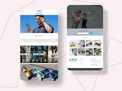 Shade Phones Website Design app website design web minimal ux brand website motion graphics 3d animation vector ui logo illustration icon graphic design design branding 3d art 2d