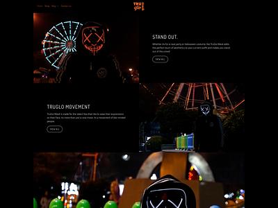 True Glow Mask Website motion graphics 3d animation vector ui logo illustration icon graphic design design branding 3d art 2d
