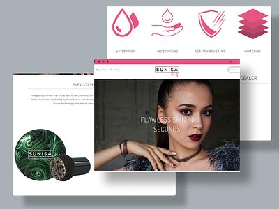 Sunisa Beauty Landing Page website motion graphics 3d animation vector ui logo illustration icon graphic design design branding 3d art 2d
