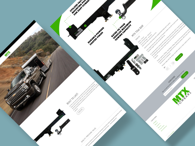 MTX Tow Bar Website vector motion graphics 3d animation ui logo illustration icon graphic design design branding 3d art 2d