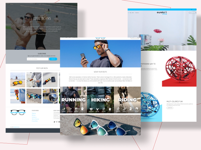 Collage Of Landing Pages motion graphics 3d animation vector ui logo illustration icon graphic design design branding 3d art 2d