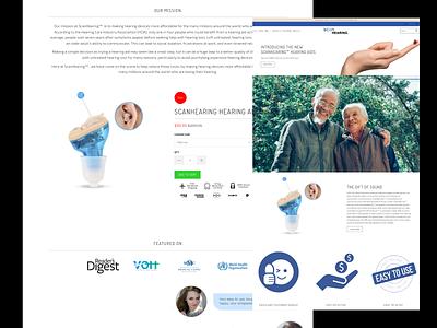 Scanhearing Website Landing Page motion graphics 3d animation vector ui logo illustration icon graphic design design branding 3d art 2d