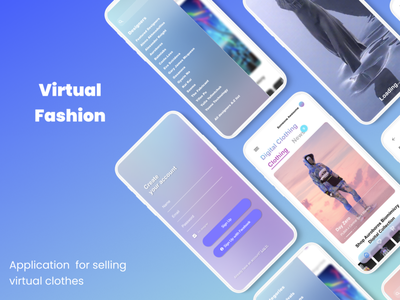 E-commerce virtual fashion design application app ux e-commerce virtual fashion fashion ui
