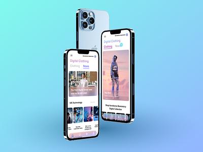 E-commerce virtual fashion ux fashion e-commerce design application app ui