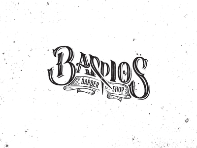 Barber shop beard hair cut draw lettering noise grunge vintage barrios