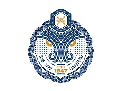 Viking Badge fraternity society badge nordic chi delta nu conquerors vikings celtic
