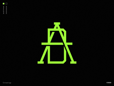 A+D LOGO CONCEPT logo design istanbul turkey tasarım buy logo freelance designer vector design concept branding typography logo d