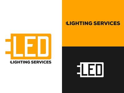 Led Lighting Services led logotype logodesign vector illustration design branding logo design logo