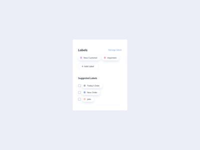 Labels UI Design