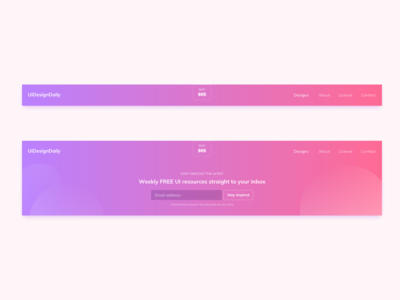Header UI Design